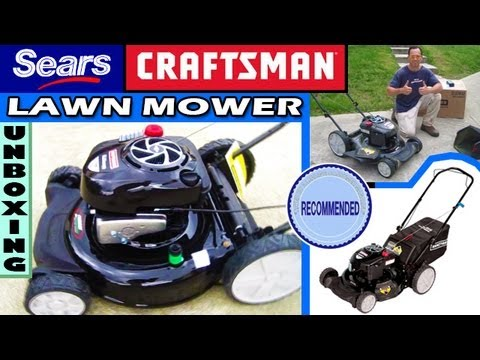 Sears Craftsman Lawn Mower Unboxing Review 7.25 Torque - 37037 push lawnmower