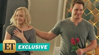 EXCLUSIVE: Jennifer Lawrence and Chris Pratt Fall in Love on the Space-Age Set of