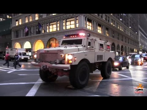 Heavy armored SWAT truck FBI + 2 unmarked cars - 1000th video !!!