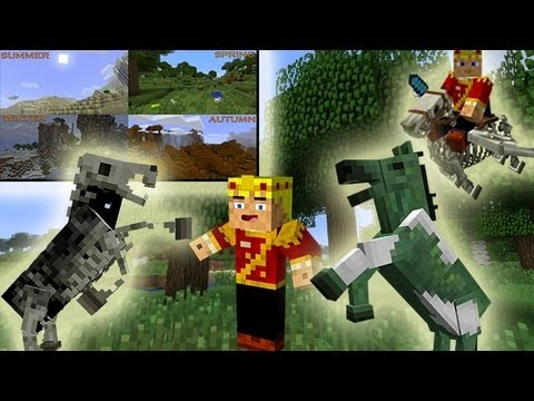 MineCraft 1.6 Snapshot: 13w20a Seasonal Cycles. Undead Horses. Zombie Riders!