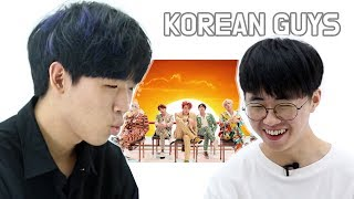 BTS Reaction By Korean Guys Who Don't Know BTS