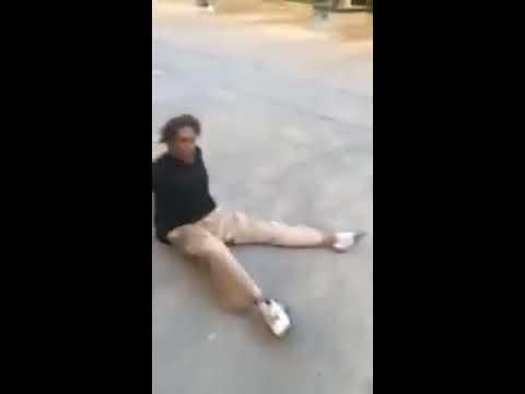 Man Scooting around on Drugs