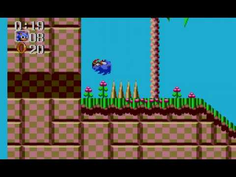 Sonic Chaos (Sega Master System) Gameplay Part 1 (Turquoise Hill Zone)