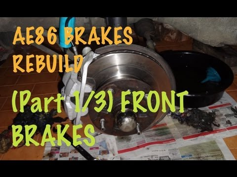 How to rebuild your car brakes 1 3 Front Calipers 1987 Corolla AE86.