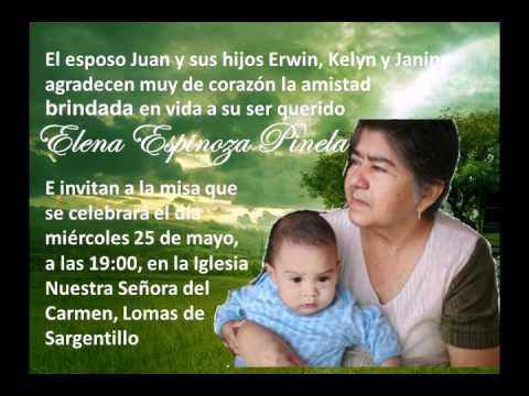 Invitación Misa Elena Espinoza - YouTube