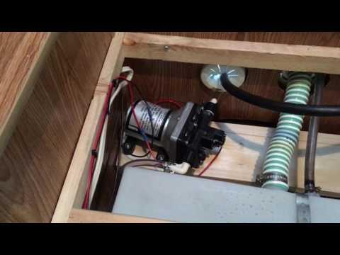 Popup Camper Fresh Water Tank Pump Installation