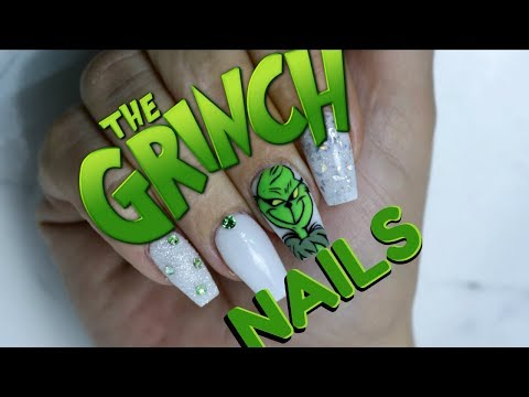 THE GRINCH NAILS | EASY HAND PAINTED TUTORIAL | STEP BY STEP