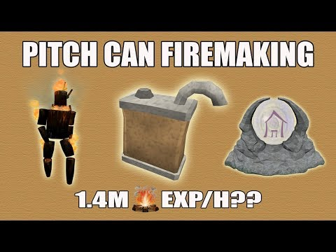 [Runescape 3] Pitch Can Firemaking Guide   Line Firemaking Update   FAST Exp + Best for Bernie??
