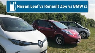 Nissan Leaf vs Renault Zoe vs BMW i3 - Which Is The Best Used Electric Car?
