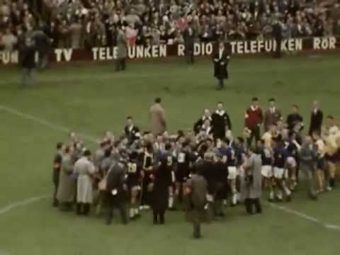 World Cup 1958 - Colour footage of Sweden vs Brazil