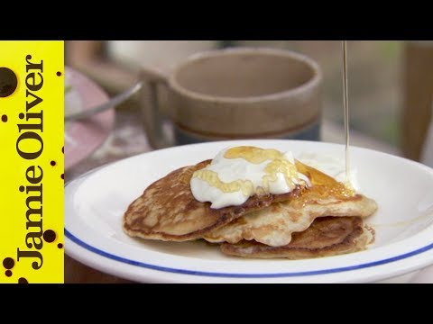 Jamie Oliver's Easy Pancake Recipe featuring Poppy and Daisy