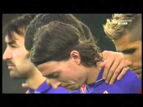 Riccardo Montolivo laughs during the minute silence