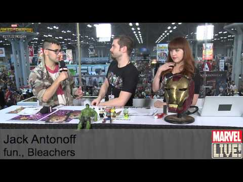 Jack Antonoff from Bleachers Visits Marvel LIVE! at New York Comic Con 2014