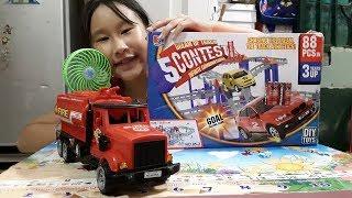 Kids toy # Truck # xe đồ chơi trẻ em, xe cau, xe bon,xe cứu hỏa, [car toy]xe đường ray đồ chơi
