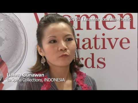 Lianna Gunawan - 2012 Laureate for Asia-Pacific - interview at the Women's Forum