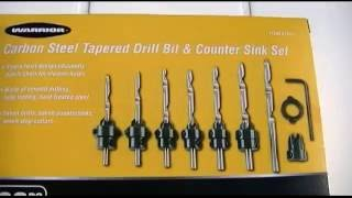 Harbor Freight - Warrior Carbon Steel Tapered Drill Bit & Counter Sink Set Review