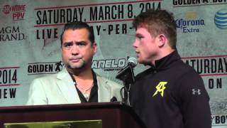 Erislandy Lara Tries To Punk Canelo And Canelo Responds