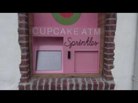 Sprinkles cupcake ATM machine at Disney Springs, Walt Disney World