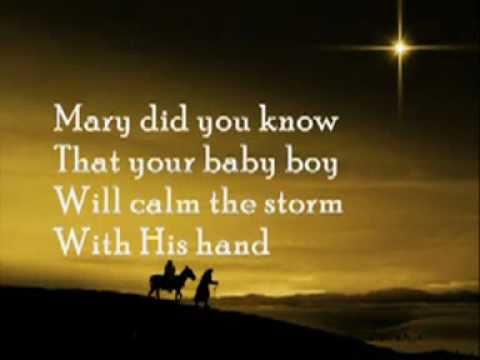 Mary, Did You Know With Lyrics video