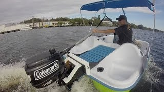 Peddle Boat with a Gas Motor!