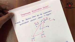 Isoparametric Quadrilateral element problem | Finite element Analysis | FEA | Tamil