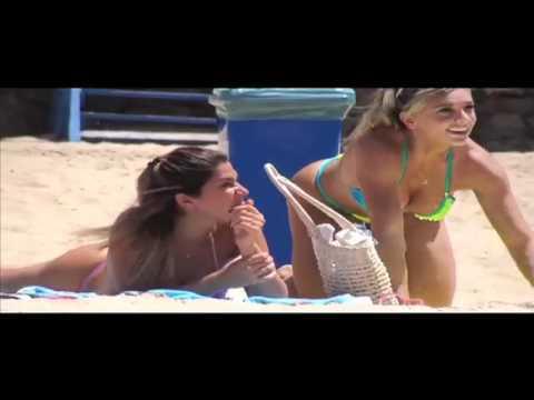 P�nico na TV 27/02/2011: Bolinha e Juju Panicat Sacaneiam Dani Bolina na Praia