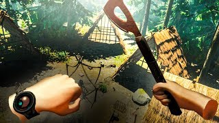 The SCARIEST Virtual Reality Survival Game EVER (Forest VR Funny Moments)