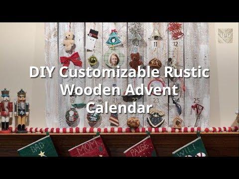DIY Customizable Rustic Wooden Advent Calendar