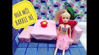 NHÀ BÚP BÊ BARBIE TỰ LÀM-PHÒNG NGỦ, KHÁCH, BẾP, NHÀ TẮM-Diy Miniature Dollhouse (Suka)