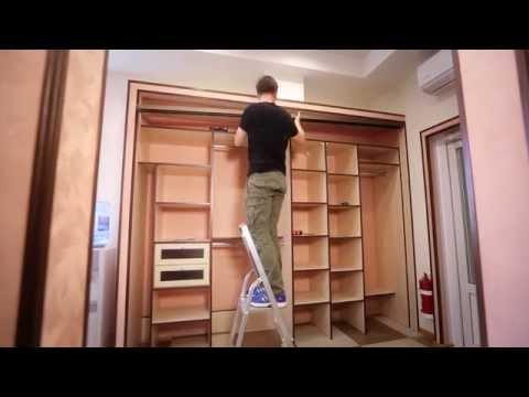 Шкафы купе в прихожую видео