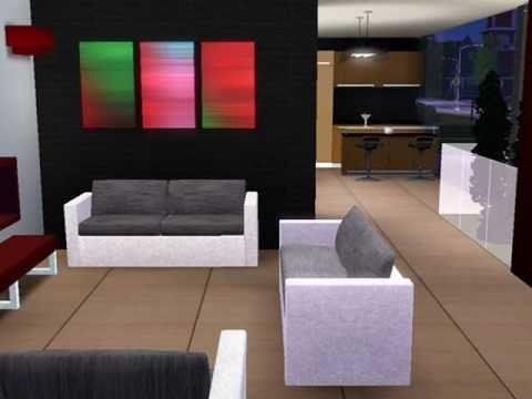 Modern House Bachelor S Home Interior Design THE SIMS 3 YouTube
