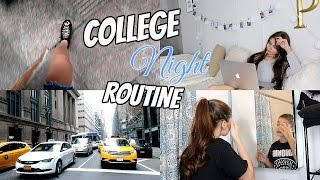 MY REAL NYC SCHOOL NIGHT ROUTINE 2017 | Paige Secosky