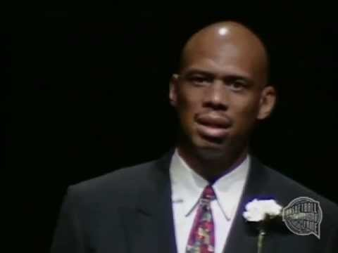 Kareem Abdul-Jabbar's Basketball Hall of Fame Enshrinement Speech