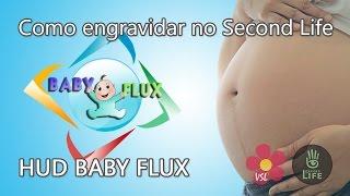 Como engravidar no Second Life - Hud Baby Flux