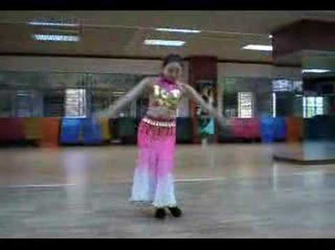 india dancing  preformed by a pretty chinese