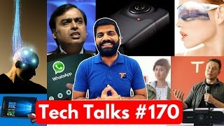 Tech Talks #170 - Jio Fastest, BSNL 339 84GB, Moto C, HTC Vive, Apple AR, GoPro Fusion