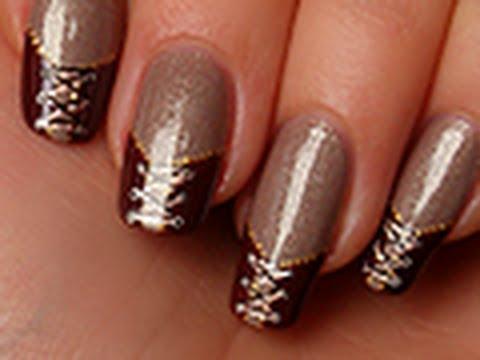Tuto nail art le corset double la age youtube - Tuto nail art debutant ...