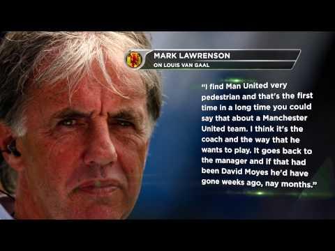 Louis van Gaal versus Mark Lawrenson | Swansea City - Manchester United 2:1