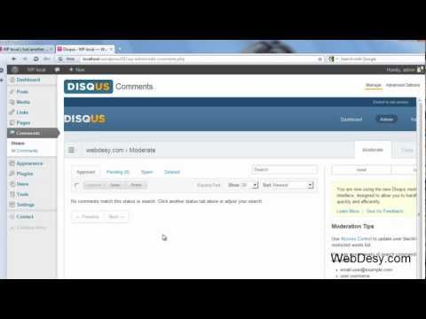 0 How to install the Disqus Comment System plugin for Wordpress   WebDesy.com