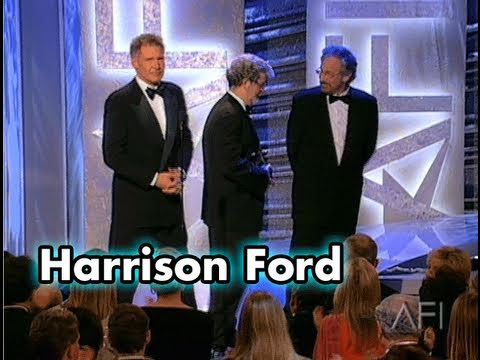 Harrison Ford Accepts the AFI Life Achievement Award in 2000