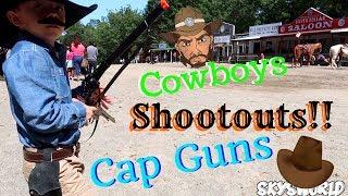 Cap Gun Cowboy Shootouts at Wild West City!!!!