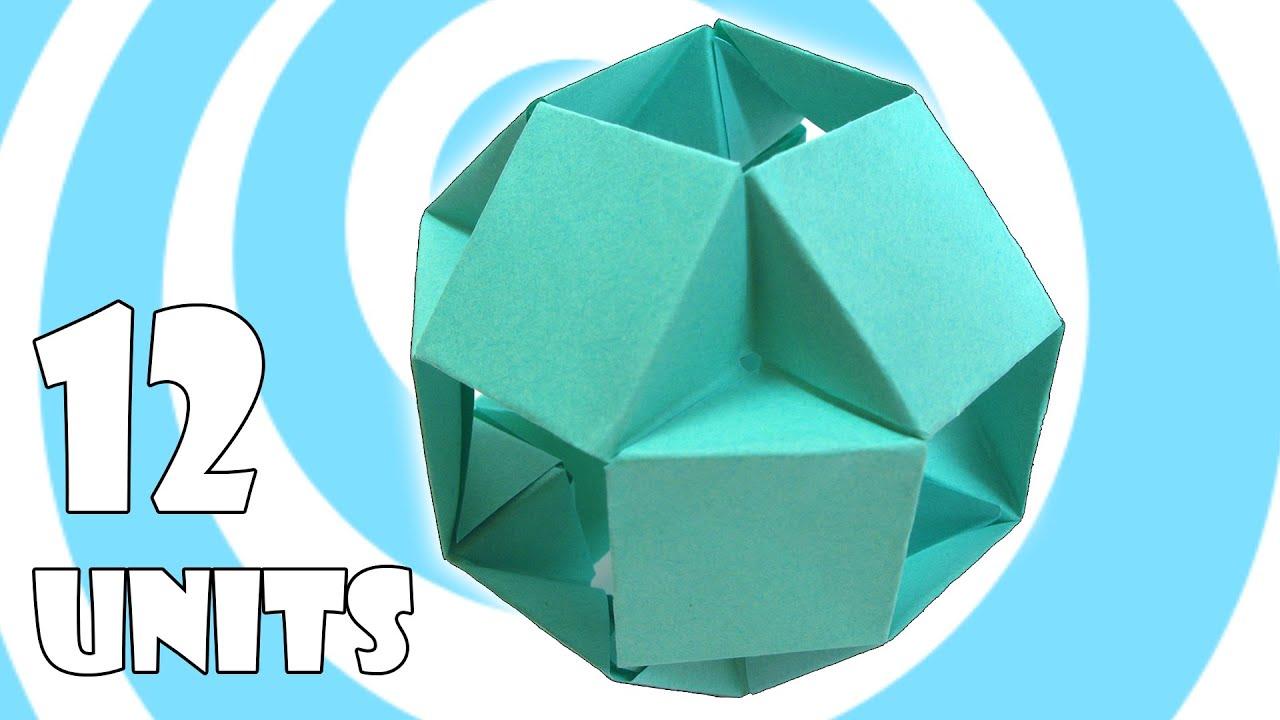 modular origami ball tutorial 12 units tomoko fuse