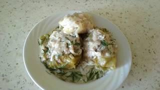 Голубцы без риса с белыми грибами.