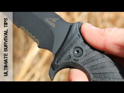 WOW!  Gerber LHR Survival Knife - Review - 30-000183 -Best Survival Knife for Combat?