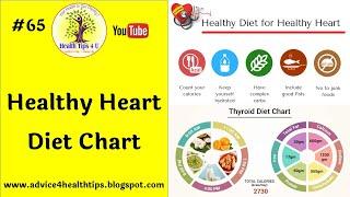 #65 Healthy Heart Diet Chart | स्वस्थ हृदय | Heart | Diet | diet chart | Heart disease Health Tips4U