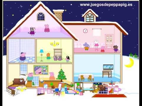 Juego casa de juguete peppa pig youtube for Decorar casa 60 m