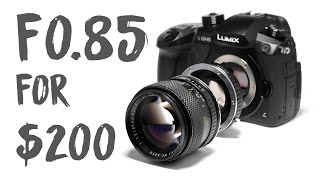 Chungdha viyoutube f085 for 200 for mirrorless crop cameras by chung dha spiritdancerdesigns Image collections