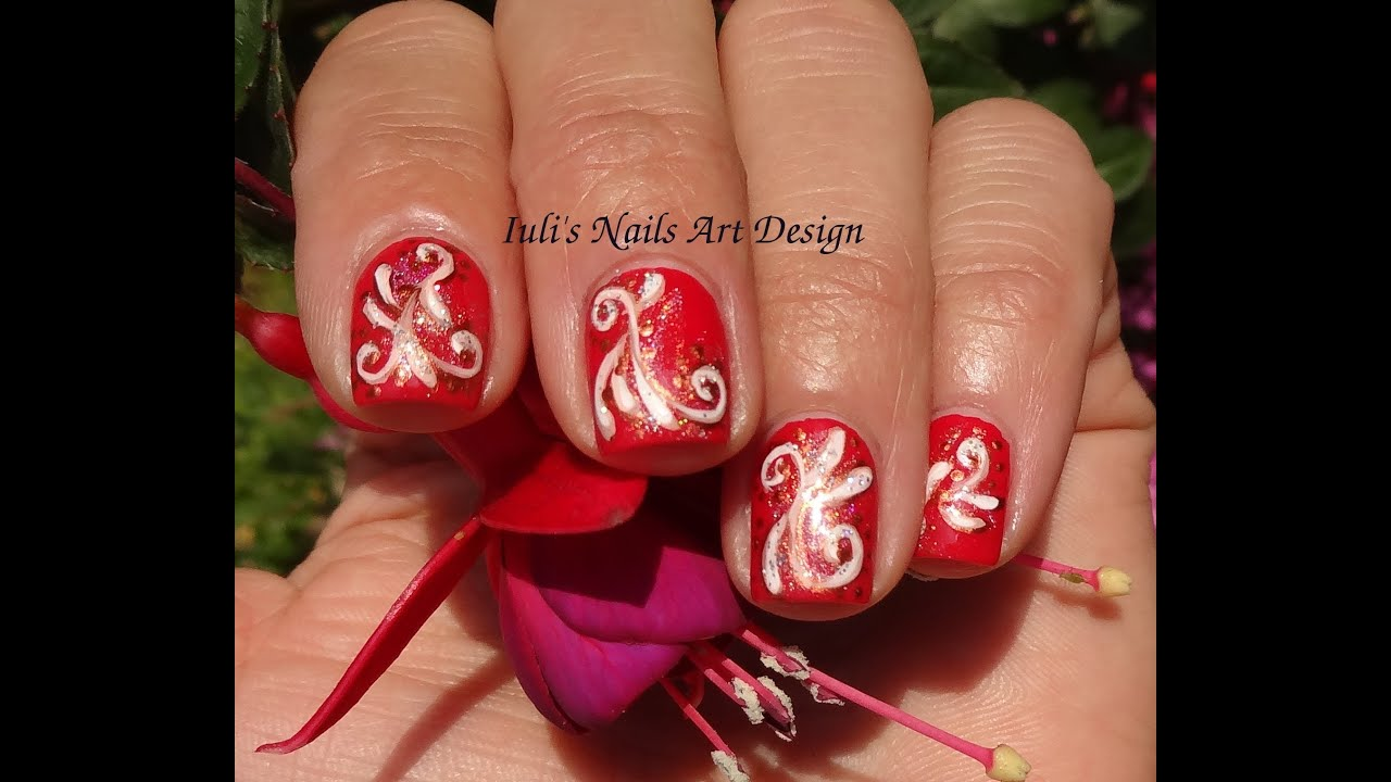 Red Nail Designs For Wedding: Red wedding nail art designs design ...