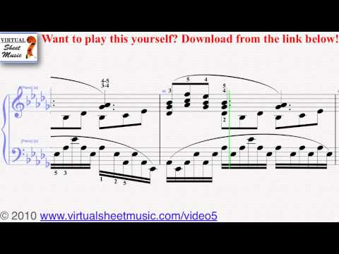 Debussy's Clair de Lune piano sheet music - Video Score Music Videos