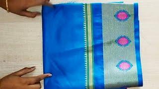 Paithani blouse back neck design cutting &stitching/easy patchwork blouse design cutting& stitching